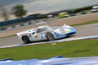 "© Octane Photographic Ltd. 2012 Donington Historic Festival. ""1000km"" for pre-72 sports-racing cars, qualifying. Lola T70 Mk.3B - Leo Voyazides/Simon Hadfield. Digital Ref : 0319cb7d0144"