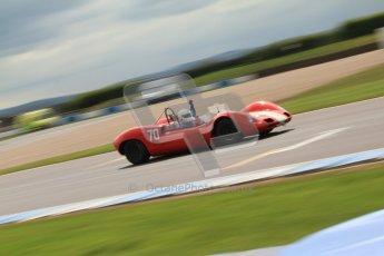 "© Octane Photographic Ltd. 2012 Donington Historic Festival. ""1000km"" for pre-72 sports-racing cars, qualifying. Elva Mk.8 - Dion Kremer/Gabriel Kramer. Digital Ref : 0319cb7d0178"