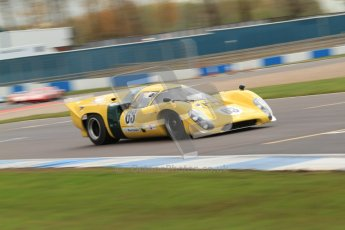 "© Octane Photographic Ltd. 2012 Donington Historic Festival. ""1000km"" for pre-72 sports-racing cars, qualifying. Lola T70 - Grant Tromans. Digital Ref : 0319cb7d0187"
