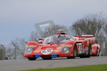 "© Octane Photographic Ltd. 2012 Donington Historic Festival. ""1000km"" for pre-72 sports-racing cars, qualifying. Ferrari 512M - Paul Knapfield. Digital Ref : 0319lw7d9116"