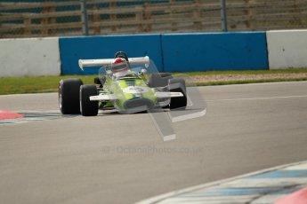 © Octane Photographic Ltd. 2012 Donington Historic Festival. HSCC Historic F2, qualifying. Brabham BT30 - Ian Gray. Digital Ref : 0315cb1d7730