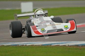 © Octane Photographic Ltd. 2012 Donington Historic Festival. HSCC Historic F2, qualifying. Chris Sharples - Chevron B29. Digital Ref : 0315cb1d8042