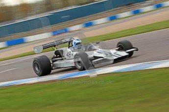 © Octane Photographic Ltd. 2012 Donington Historic Festival. HSCC Historic F2, qualifying. Lola T240 - Tim Barrington. Digital Ref : 0315cb7d9829