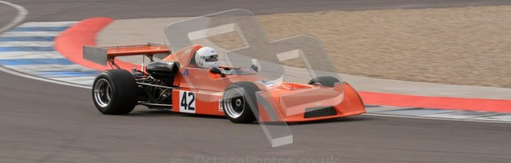 © Octane Photographic Ltd. 2012 Donington Historic Festival. HSCC Historic F2, qualifying. Chevron B25 - David Gathercole. Digital Ref : 0315lw7d8016