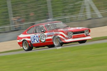© Octane Photographic Ltd. 2012 Donington Historic Festival. JD Classics Challenge for 66 to 85 touring cars, qualifying. Ford Capri - Tom Pochciol. Digital Ref : 0318cb1d8251