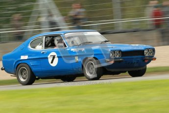 © Octane Photographic Ltd. 2012 Donington Historic Festival. JD Classics Challenge for 66 to 85 touring cars, qualifying. Ford Capri - Denis Welch/Mike Freeman. Digital Ref : 0318cb1d8273