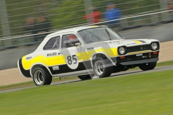 © Octane Photographic Ltd. 2012 Donington Historic Festival. JD Classics Challenge for 66 to 85 touring cars, qualifying. Ford Escort Mk.I - Sean Brown/Robert Brown. Digital Ref : 0318cb1d8279