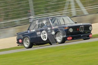 © Octane Photographic Ltd. 2012 Donington Historic Festival. JD Classics Challenge for 66 to 85 touring cars, qualifying. BMW 2002 - Alan Tice/Chris Conoley. Digital Ref : 0318cb1d8283