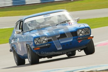 © Octane Photographic Ltd. 2012 Donington Historic Festival. JD Classics Challenge for 66 to 85 touring cars, qualifying. Ford Capri - Denis Welch/Mike Freeman. Digital Ref : 0318cb1d8301