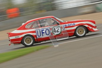 © Octane Photographic Ltd. 2012 Donington Historic Festival. JD Classics Challenge for 66 to 85 touring cars, qualifying. Ford Capri - Tom Pochciol. Digital Ref : 0318cb7d0085