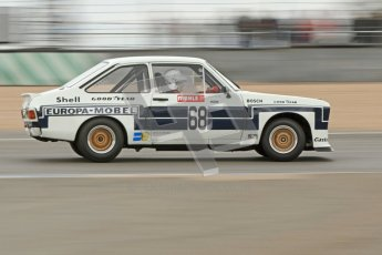 © Octane Photographic Ltd. 2012 Donington Historic Festival. JD Classics Challenge for 66 to 85 touring cars, qualifying. Ford Escort RS1800 - Mark Wright/Dave Coyne. Digital Ref : 0318cb7d0091