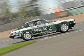 © Octane Photographic Ltd. 2012 Donington Historic Festival. JD Classics Challenge for 66 to 85 touring cars, qualifying. Jaguar TWR XJS - Alex Bunscombe/Gary Pearson. Digital Ref : 0318cb7d0104