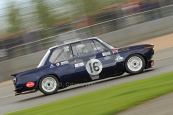 © Octane Photographic Ltd. 2012 Donington Historic Festival. JD Classics Challenge for 66 to 85 touring cars, qualifying. BMW 2002 - Alan Tice/Chris Conoley. Digital Ref : 0318cb7d0108