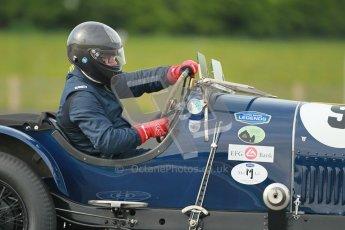 "© Octane Photographic Ltd. 2012 Donington Historic Festival. ""Mad Jack"" for pre-war sportscars, qualifying. Bentley - Richard Hudson. Digital Ref : 0314cb1d7438"