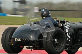 "© Octane Photographic Ltd. 2012 Donington Historic Festival. ""Mad Jack"" for pre-war sportscars, qualifying. 5th May 2012, Jaguar SS100 - Tom McWhirter. Digital Ref : 0314cb1d7540"