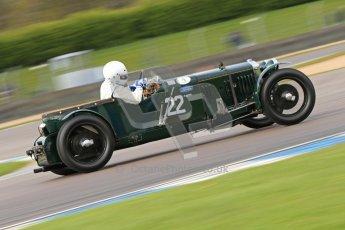 "© Octane Photographic Ltd. 2012 Donington Historic Festival. ""Mad Jack"" for pre-war sportscars, qualifying. James Knapp - Frazer Nash. Digital Ref : 0314cb7d9733"