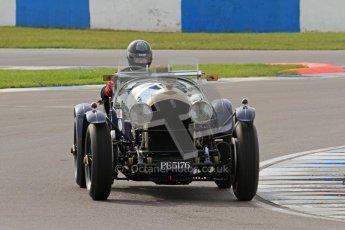 "© Octane Photographic Ltd. 2012 Donington Historic Festival. ""Mad Jack"" for pre-war sportscars, qualifying. Bentley - Richard Hudson. Digital Ref : 0314lw7d7048"