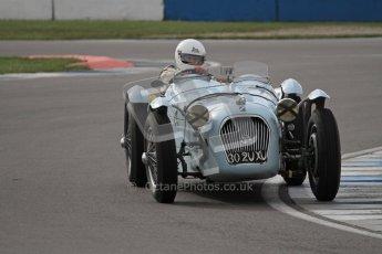 "© Octane Photographic Ltd. 2012 Donington Historic Festival. ""Mad Jack"" for pre-war sportscars, qualifying. Talbot Lago T150 - Sam Stretton/John Guyatt. Digital Ref : 0314lw7d7081"