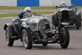 "© Octane Photographic Ltd. 2012 Donington Historic Festival. ""Mad Jack"" for pre-war sportscars, qualifying. Bentley 3 Litre - Jock MacKinnon. Digital Ref : 0314lw7d7106"
