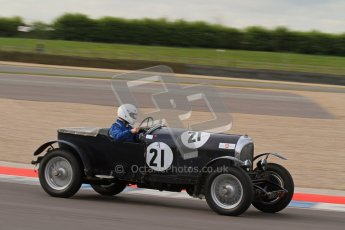 "© Octane Photographic Ltd. 2012 Donington Historic Festival. ""Mad Jack"" for pre-war sportscars, qualifying. Bentley 3 Litre - Jock MacKinnon. Digital Ref : 0314lw7d7290"