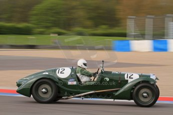 "© Octane Photographic Ltd. 2012 Donington Historic Festival. ""Mad Jack"" for pre-war sportscars, qualifying. Lagonda Le Mans - Robert Lewis. Digital Ref : 0314lw7d7411"