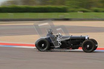 "© Octane Photographic Ltd. 2012 Donington Historic Festival. ""Mad Jack"" for pre-war sportscars, qualifying. 5th May 2012, Jaguar SS100 - Tom McWhirter. Digital Ref : 0314lw7d7486"