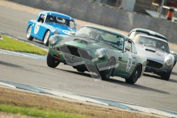 © Octane Photographic Ltd. 2012 Donington Historic Festival. Pre-63 GT, qualifying. Aston Martin DB4 - Robert Rawe. Digital Ref : 0322cb1d9288