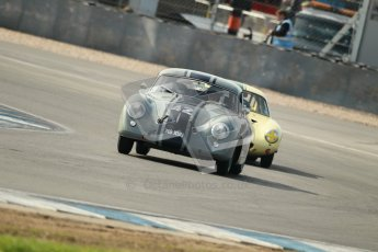 © Octane Photographic Ltd. 2012 Donington Historic Festival. Pre-63 GT, qualifying. Porsche 356 pre-A coupe, Maxted Page. Digital Ref : 0322cb1d9320