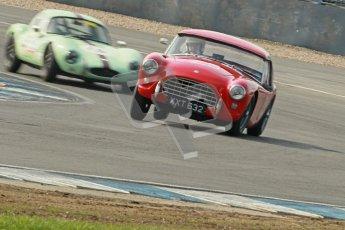 © Octane Photographic Ltd. 2012 Donington Historic Festival. Pre-63 GT, qualifying. AC Ace Bristol - Cussons. Digital Ref : 0322cb1d9376