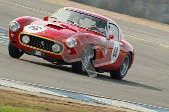 © Octane Photographic Ltd. 2012 Donington Historic Festival. Pre-63 GT, qualifying. Ferrari 250SWB - Clive Joy, Kilian Konig.  Digital Ref : 0322cb1d9385