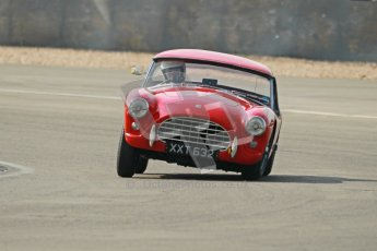 © Octane Photographic Ltd. 2012 Donington Historic Festival. Pre-63 GT, qualifying. AC Ace Bristol - Cussons. Digital Ref : 0322cb1d9500