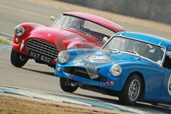 © Octane Photographic Ltd. 2012 Donington Historic Festival. Pre-63 GT, qualifying. AC Ace Bristol - Cussons. Digital Ref : 0322cb1d9507