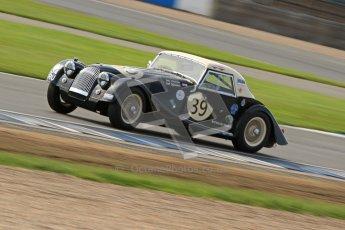© Octane Photographic Ltd. 2012 Donington Historic Festival. Pre-63 GT, qualifying. Morgan+4 Supersports - John Emberson, Bill Wykeham. Digital Ref : 0322cb7d0375
