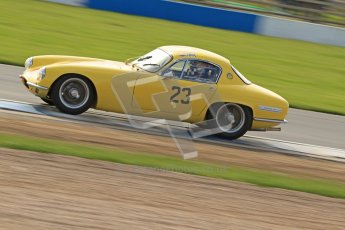 © Octane Photographic Ltd. 2012 Donington Historic Festival. Pre-63 GT, qualifying. Lotus Elite - Peter Stohrmann, Wolfgang Molitor. Digital Ref : 0322cb7d0385