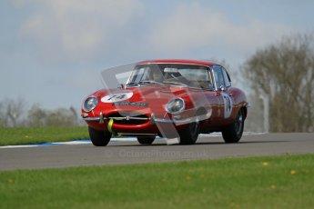 © Octane Photographic Ltd. 2012 Donington Historic Festival. Pre-63 GT, qualifying. Jaguar E-type - Chris Phillips. Digital Ref : 0322lw7d0245