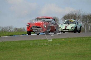 © Octane Photographic Ltd. 2012 Donington Historic Festival. Pre-63 GT, qualifying. AC Ace Bristol - Cussons. Digital Ref : 0322lw7d0280