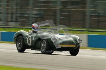 © Octane Photographic Ltd. 2012 Donington Historic Festival. RAC Woodcote Trophy for pre-56 sportscars, qualifying. Aston Martin DB3S - Wolfgang Friedrichs/David Clark. Digital Ref : 0316cb1d8056