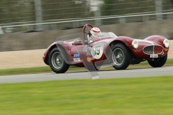 © Octane Photographic Ltd. 2012 Donington Historic Festival. RAC Woodcote Trophy for pre-56 sportscars, qualifying. Maserati A6 GCS - Lukas Huni. Digital Ref : 0316cb1d8085