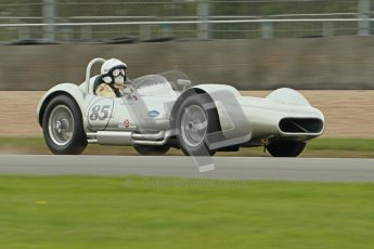 © Octane Photographic Ltd. 2012 Donington Historic Festival. RAC Woodcote Trophy for pre-56 sportscars, qualifying. Lister Bristol - Stephen Bond/Keith Fell. Digital Ref : 0316cb1d8092