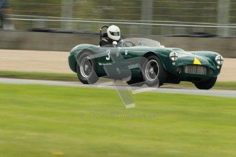 © Octane Photographic Ltd. 2012 Donington Historic Festival. RAC Woodcote Trophy for pre-56 sportscars, qualifying. HWM Sports Racing - Roger Buxton/Michael Steele. Digital Ref : 0316cb1d8112