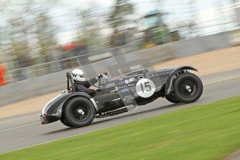 © Octane Photographic Ltd. 2012 Donington Historic Festival. RAC Woodcote Trophy for pre-56 sportscars, qualifying. Allard J2 - Patrick Watts. Digital Ref : 0316cb7d9932