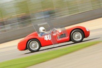 © Octane Photographic Ltd. 2012 Donington Historic Festival. RAC Woodcote Trophy for pre-56 sportscars, qualifying. Maserati 150S - Martin Halusa. Digital Ref : 0316cb7d9984