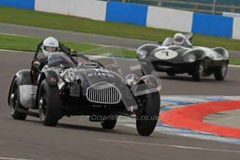 © Octane Photographic Ltd. 2012 Donington Historic Festival. RAC Woodcote Trophy for pre-56 sportscars, qualifying. Allard J2 - Patrick Watts. Digital Ref : 0316lw7d8211