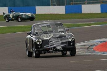 © Octane Photographic Ltd. 2012 Donington Historic Festival. RAC Woodcote Trophy for pre-56 sportscars, qualifying. Aston Martin DB2/4 Mk.I - Nicholas Ruddell. Digital Ref : 0316lw7d8248