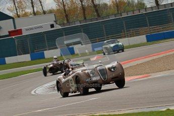 © Octane Photographic Ltd. 2012 Donington Historic Festival. RAC Woodcote Trophy for pre-56 sportscars, qualifying. Jaguar KX120 OTS - Wil Arif/Jarrah Venables. Digital Ref : 0316lw7d8384