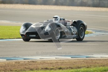 © Octane Photographic Ltd. 2012 Donington Historic Festival. Stirling Moss Trophy for pre-61 sportscars, qualifying. Lister Knobbly - Alastair Dovey/Mark Hales. Digital Ref : 0321cb1d8948
