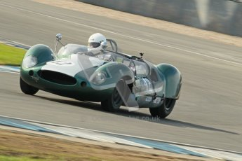 © Octane Photographic Ltd. 2012 Donington Historic Festival. Stirling Moss Trophy for pre-61 sportscars, qualifying. Cooper Monaco - Paul Woolley. Digital Ref : 0321cb1d9026