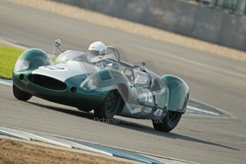 © Octane Photographic Ltd. 2012 Donington Historic Festival. Stirling Moss Trophy for pre-61 sportscars, qualifying. Cooper Monaco - Paul Woolley. Digital Ref : 0321cb1d9175