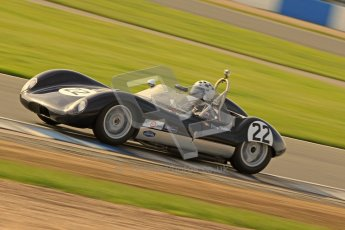 © Octane Photographic Ltd. 2012 Donington Historic Festival. Stirling Moss Trophy for pre-61 sportscars, qualifying. Lola Mk.1 - Jurg Tobler. Digital Ref : 0321cb7d0326