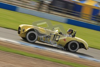 © Octane Photographic Ltd. 2012 Donington Historic Festival. Stirling Moss Trophy for pre-61 sportscars, qualifying. Old Yeller Mk.II - Ernest Nagamatsu. Digital Ref : 0321cb7d0349